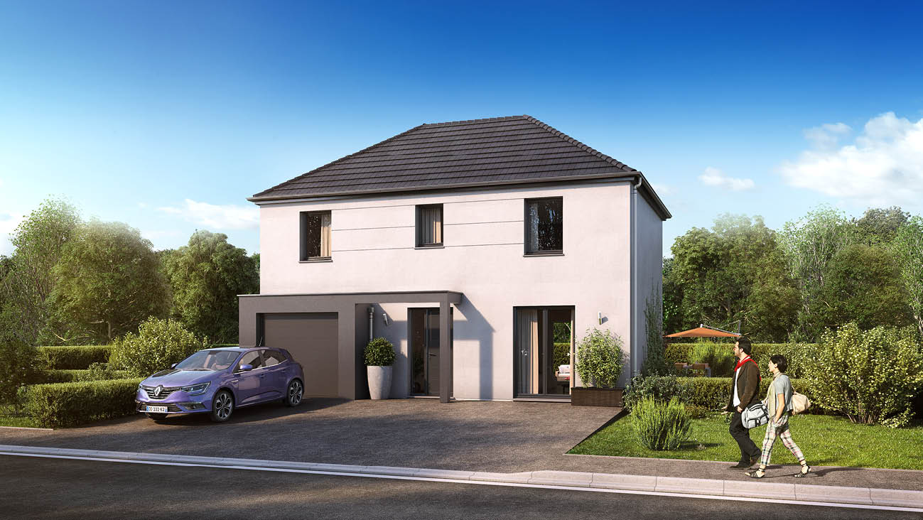 Maisons + Terrains du constructeur MAISON FAMILIALE • 102 m² • GOUSSAINVILLE