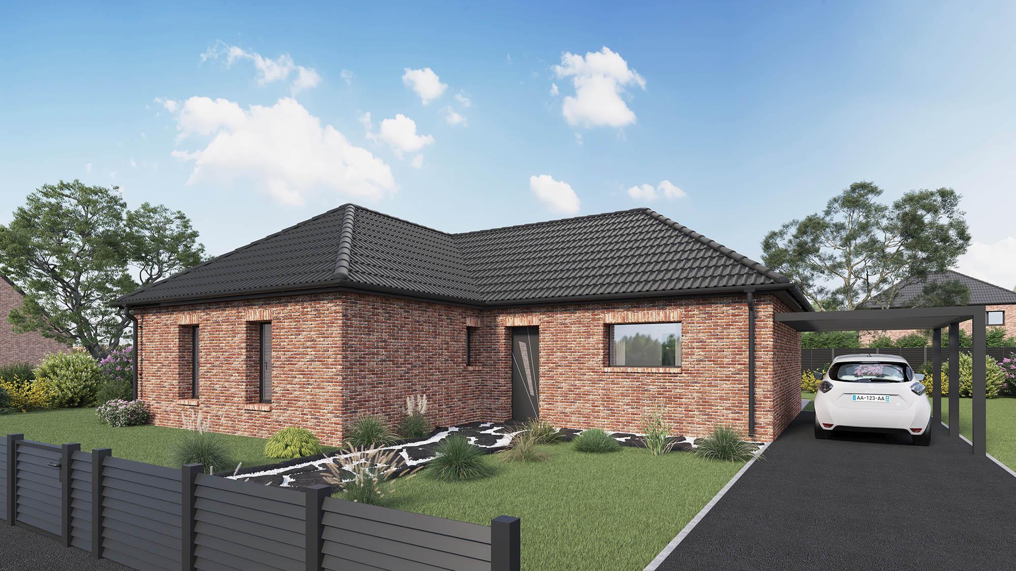Maisons + Terrains du constructeur Maison Castor St Omer • 100 m² • MORBECQUE