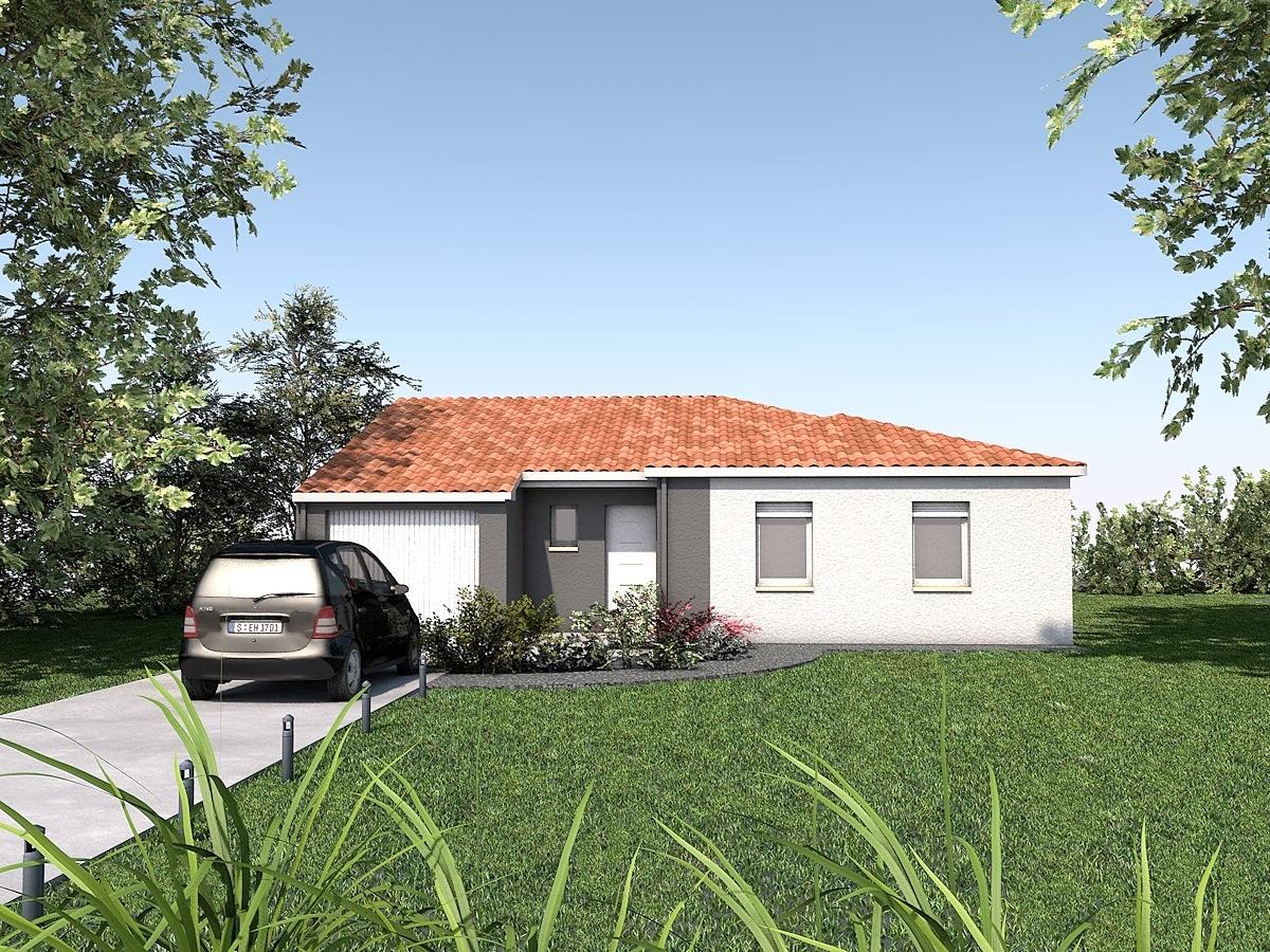 Maisons + Terrains du constructeur LES MAISONS SOFIA • 88 m² • ALBI