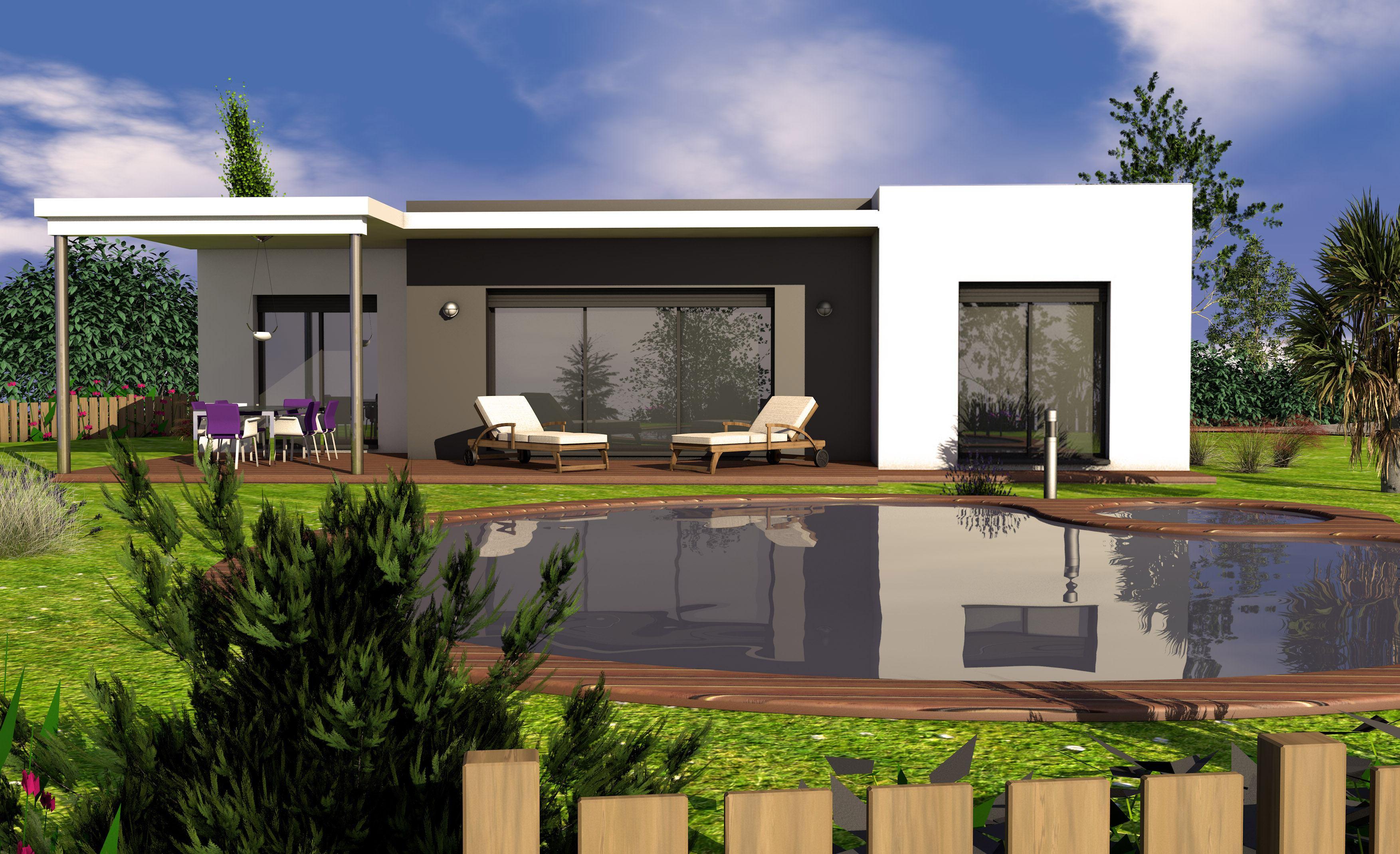 Maisons + Terrains du constructeur LES MAISONS SOFIA • 90 m² • AMBRES