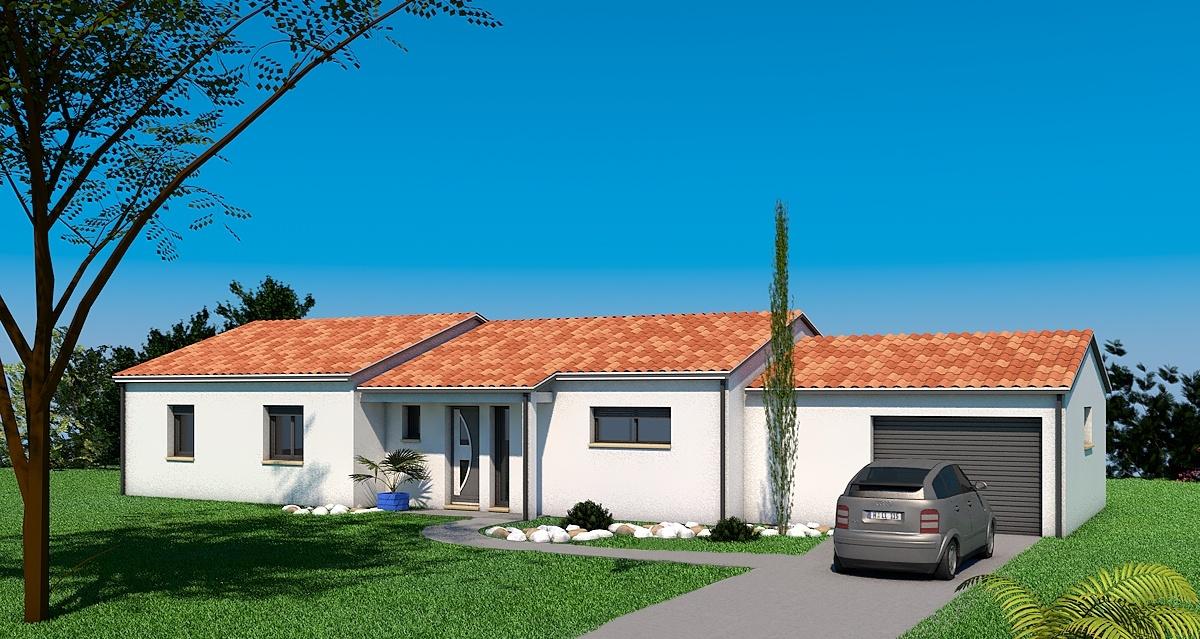 Maisons + Terrains du constructeur LES MAISONS SOFIA • 110 m² • SAINT PAUL CAP DE JOUX