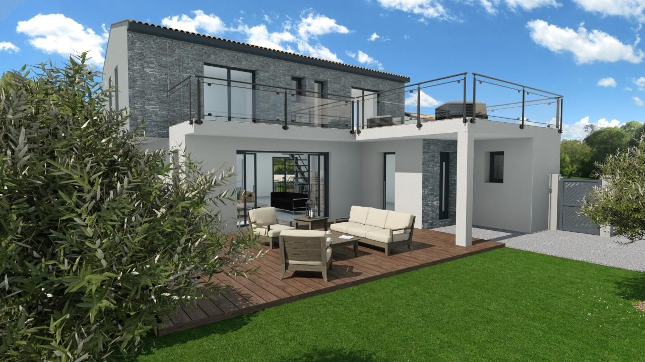 Maisons + Terrains du constructeur MAISON FAMILIALE MONTPELLIER • 143 m² • SAINT CLEMENT DE RIVIERE