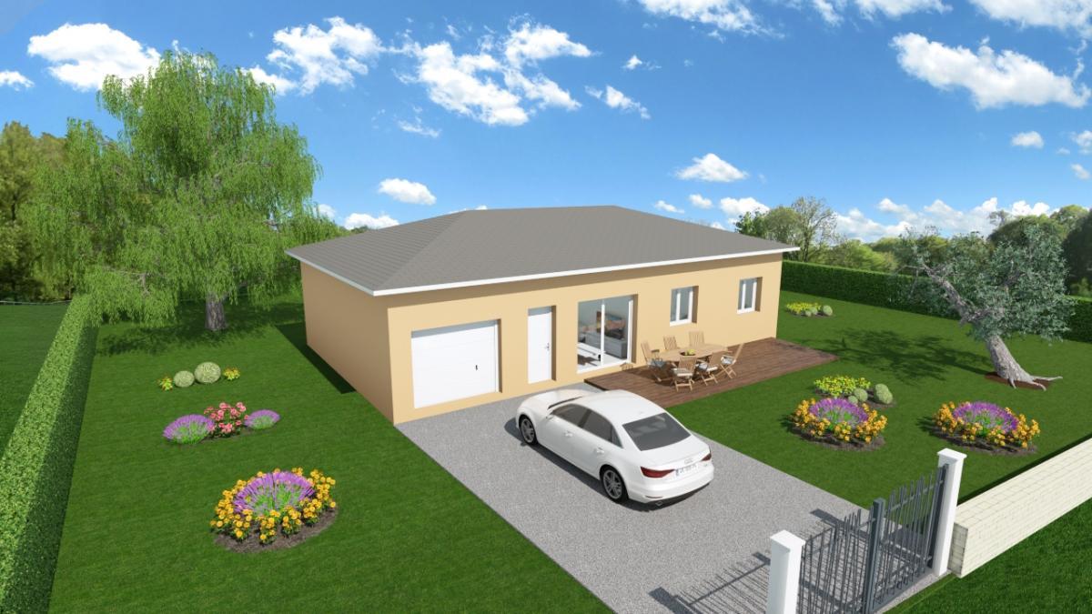 Maisons du constructeur ESQUISS LE POUZIN • 90 m² • ROCHEFORT EN VALDAINE