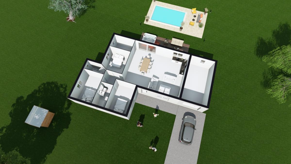 Maisons du constructeur ESQUISS LE POUZIN • 148 m² • MONTELEGER