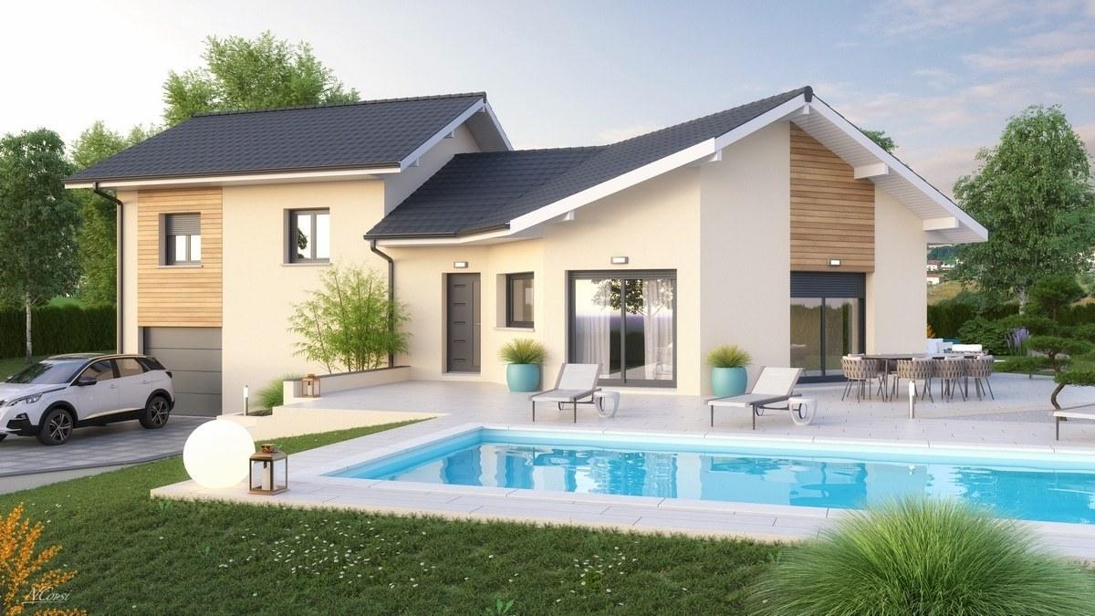 Maisons + Terrains du constructeur M C A Maisons et Chalets des Alpes • 104 m² • QUINTAL