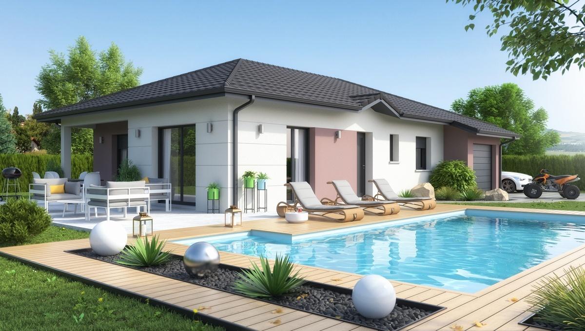 Maisons + Terrains du constructeur M C A Maisons et Chalets des Alpes • 92 m² • VALLIERES