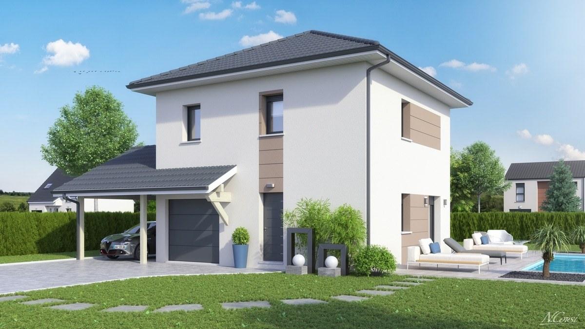 Maisons + Terrains du constructeur M C A Maisons et Chalets des Alpes • 95 m² • SCIENTRIER