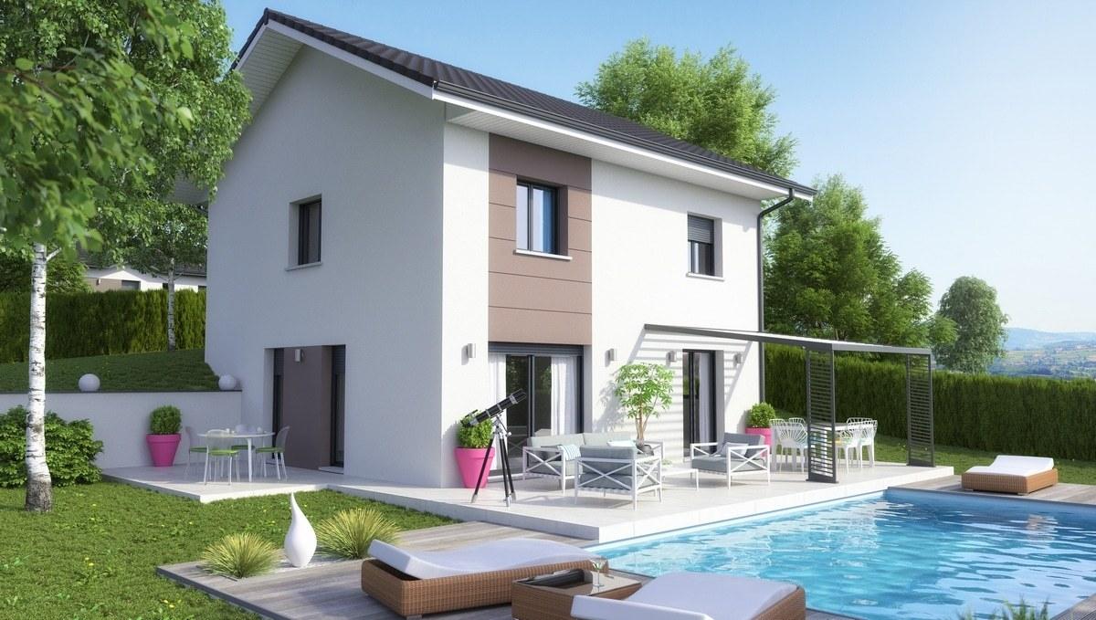 Maisons + Terrains du constructeur M C A Maisons et Chalets des Alpes • 90 m² • THONES