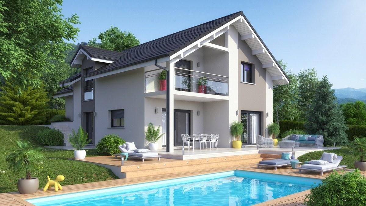 Maisons + Terrains du constructeur M C A Maisons et Chalets des Alpes • 119 m² • HAUTEVILLE SUR FIER