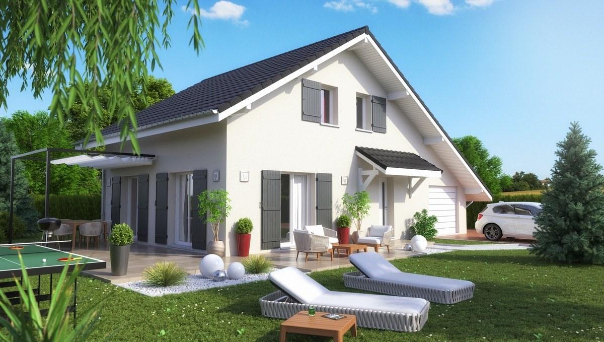 Maisons + Terrains du constructeur M C A Maisons et Chalets des Alpes • 113 m² • LESCHAUX