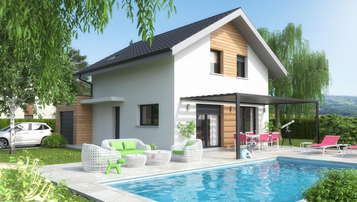 Maisons + Terrains du constructeur M C A Maisons et Chalets des Alpes • 98 m² • QUINTAL
