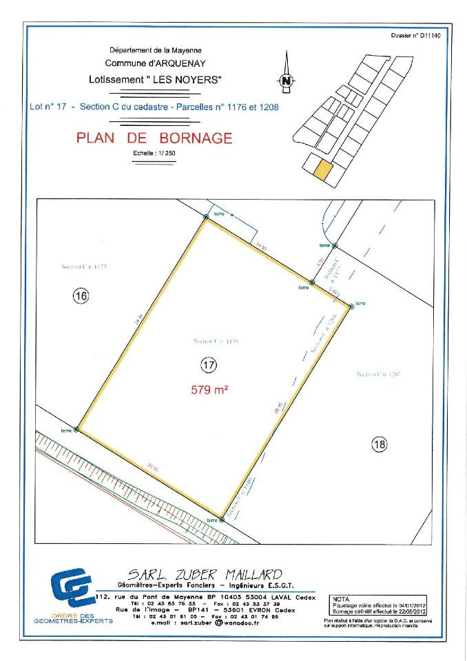 Terrains du constructeur MAISONS FRANCE CONFORT • 580 m² • ARQUENAY