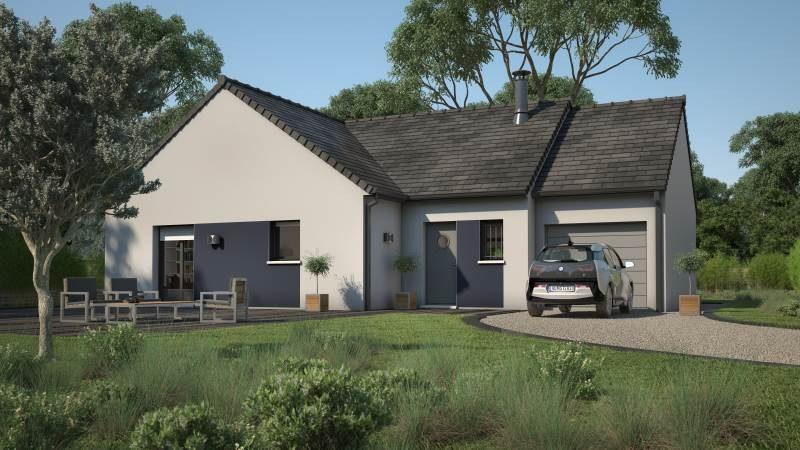 Maisons + Terrains du constructeur MAISONS FRANCE CONFORT • 90 m² • QUELAINES SAINT GAULT