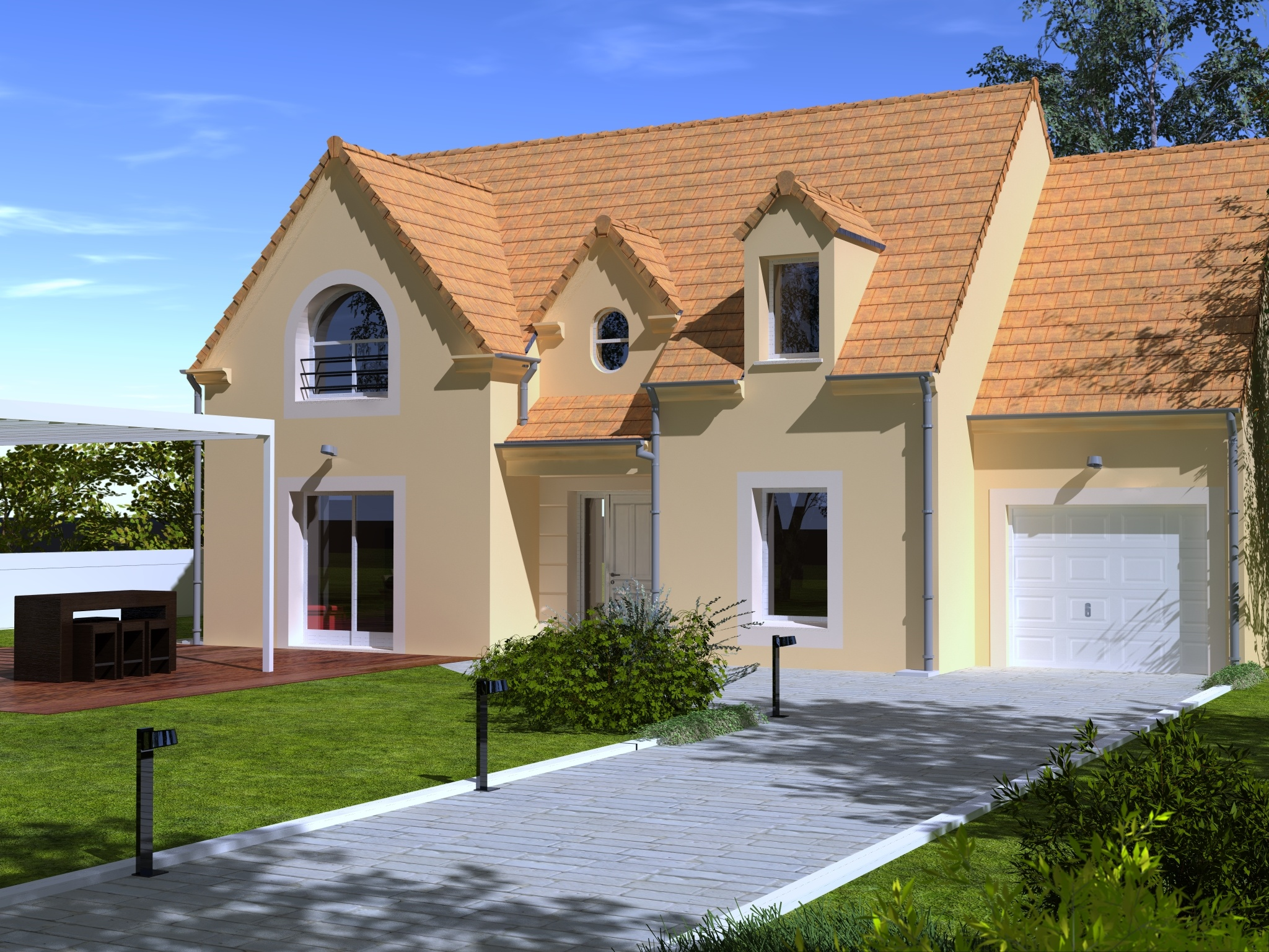 Maisons + Terrains du constructeur Les Maisons Lelievre • 131 m² • GUECELARD