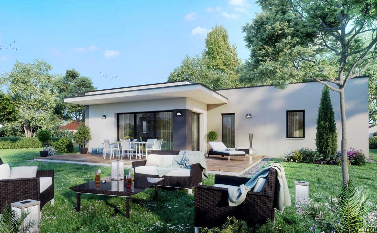 Maisons + Terrains du constructeur MAISONS LIBERTE - BOURG LES VALENCE • 90 m² • ALLEX