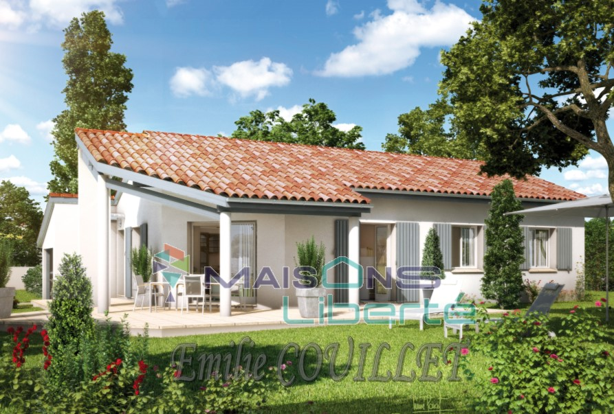 Maisons + Terrains du constructeur MAISONS LIBERTE - BOURG LES VALENCE • 90 m² • ALLAN