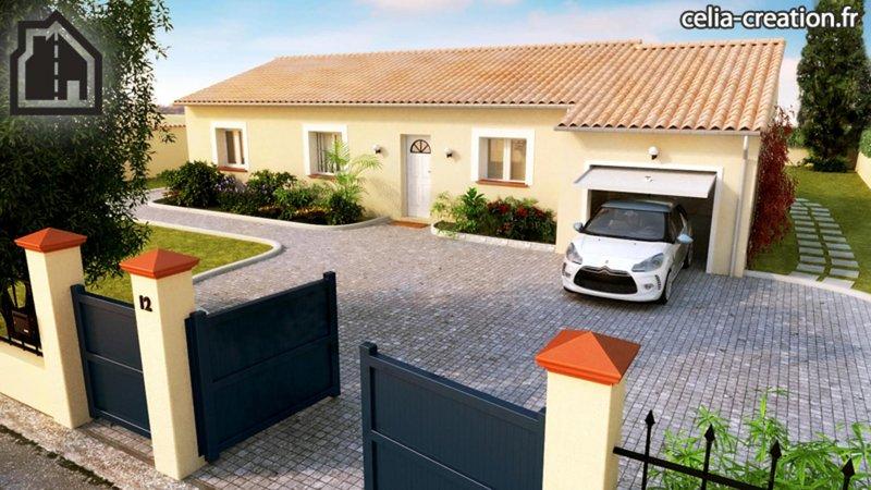 Maisons du constructeur CELIA CREATION - MURET • 90 m² • SAINT CLAR DE RIVIERE