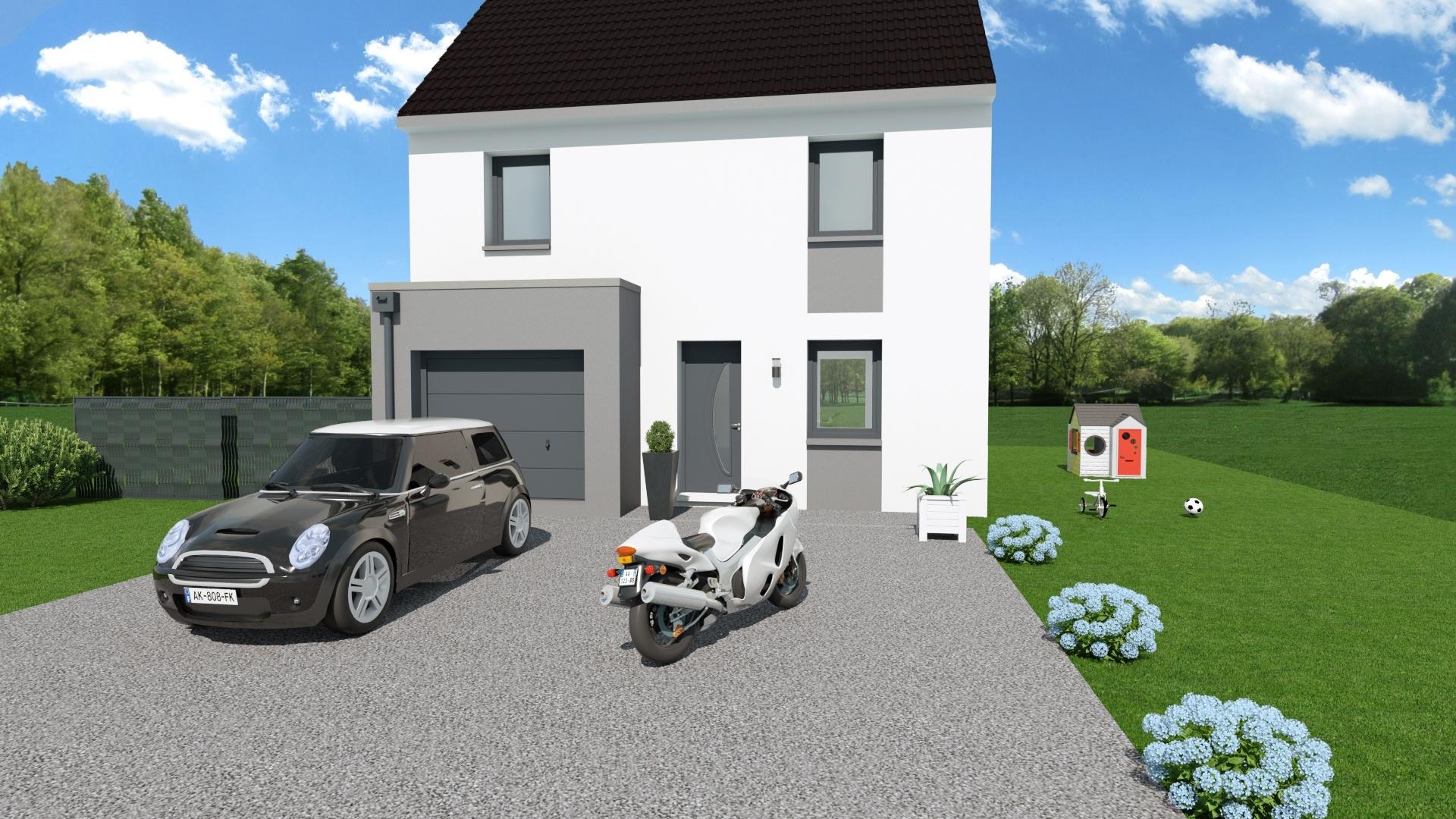 Maisons + Terrains du constructeur F.C.B • 90 m² • FOUQUIERES LES BETHUNE