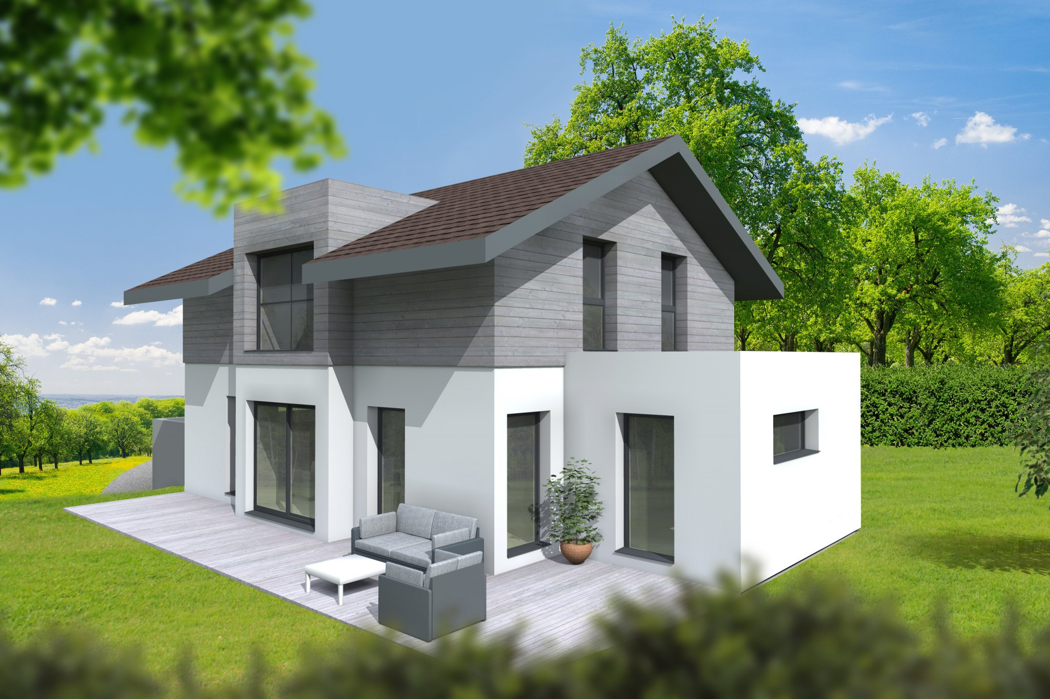 Maisons du constructeur CI HABITAT • 130 m² • ARCHAMPS