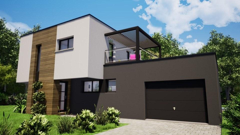 Maisons + Terrains du constructeur MAISONS NEO - MULHOUSE • 100 m² • BOLLWILLER