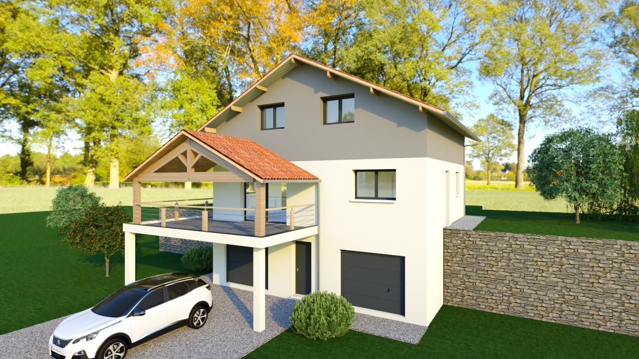 Maisons du constructeur MODULHABITAT - ANNECY • 130 m² • VALLIERES