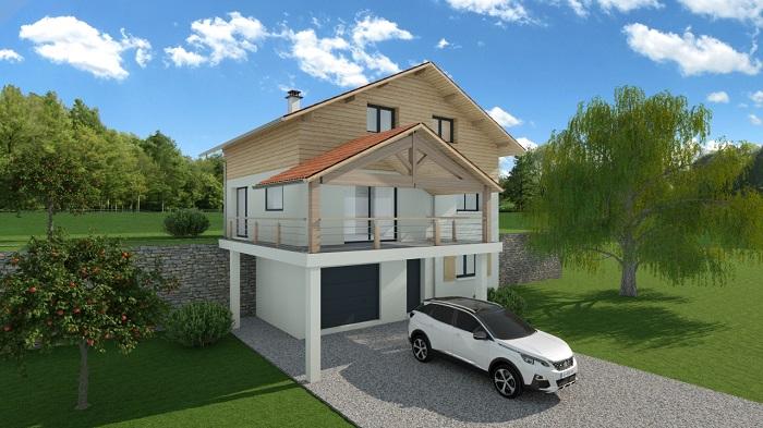 Maisons du constructeur MODULHABITAT - ANNECY • 98 m² • SAINT JEOIRE