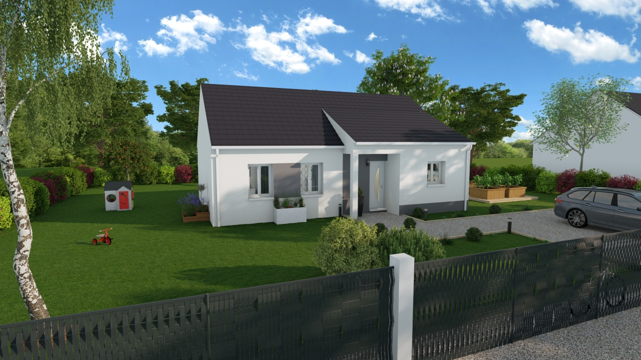 Maisons + Terrains du constructeur DESIGN HABITAT • 76 m² • LA CHAPELLE DES MARAIS
