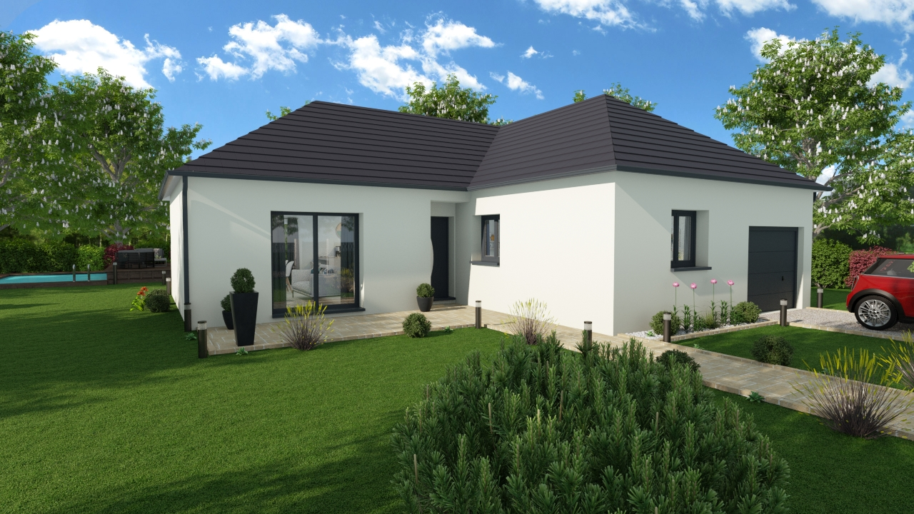 Maisons + Terrains du constructeur DESIGN HABITAT • 93 m² • SAINTE ANNE SUR BRIVET