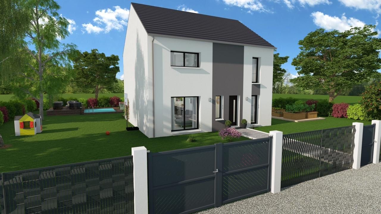 Maisons + Terrains du constructeur DESIGN HABITAT • 101 m² • SAINT GILDAS DES BOIS