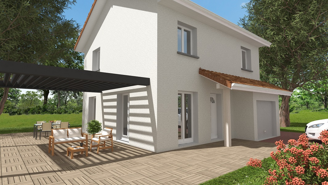 Maisons + Terrains du constructeur KP CONSTRUCTION • 95 m² • SAINT PAUL DE VARCES