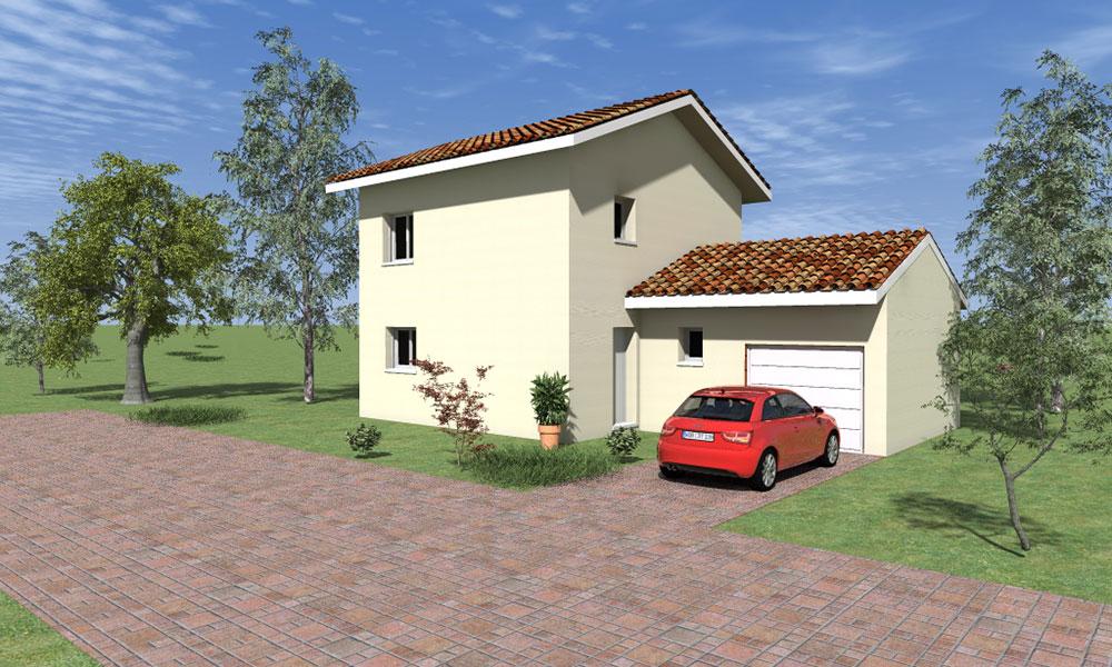 Maisons + Terrains du constructeur KP CONSTRUCTION • 89 m² • NOYAREY