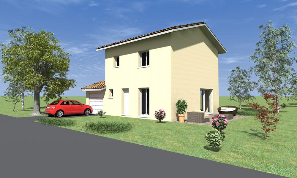 Maisons + Terrains du constructeur KP CONSTRUCTION • 94 m² • NOYAREY