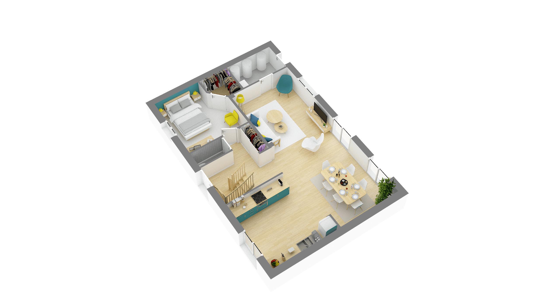 Maisons + Terrains du constructeur HABITAT CONCEPT • 115 m² • VILLIERS ADAM