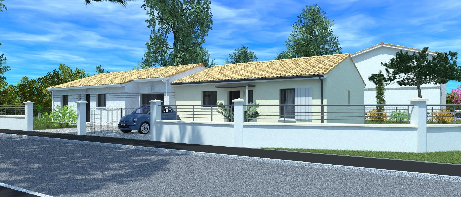 Maisons + Terrains du constructeur HEXHA CONSTRUCTION • 86 m² • LIBOURNE