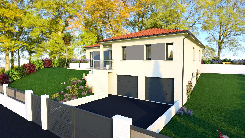 Maisons + Terrains du constructeur LES DEMEURES REGIONALES • 105 m² • LES MARTRES DE VEYRE