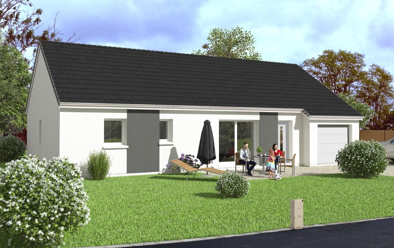 Maisons du constructeur Maisons Hexagone BOURGES • 92 m² • SAINT GERMAIN DU PUY