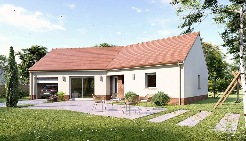 Maisons du constructeur Maisons Hexagone BOURGES • 80 m² • SAINT JUST