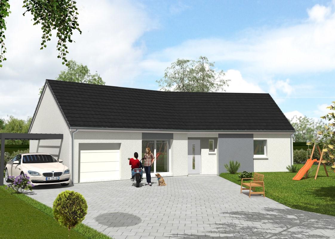 Maisons du constructeur Maisons Hexagone GIEN • 80 m² • SAINT MARTIN SUR OCRE