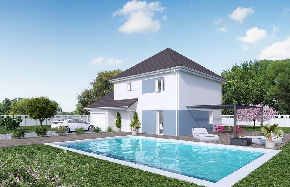 Maisons du constructeur Créa Concept Orléans • 95 m² • LA CHAPELLE SAINT MESMIN