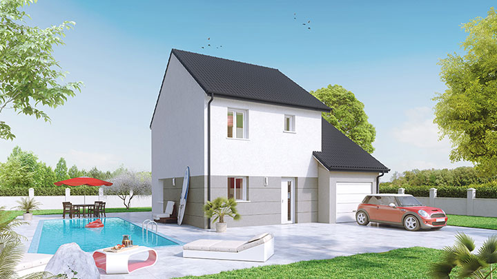 Maisons du constructeur Créa Concept Orléans • 95 m² • BOU