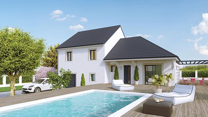 Maisons du constructeur Créa Concept Orléans • 95 m² • LA CHAPELLE SUR AVEYRON