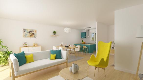 Maison+Terrain à vendre .(76 m²)(BUIGNY SAINT MACLOU) avec (RESIDENCES PICARDES)