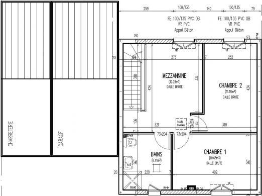 Maison+Terrain à vendre .(82 m²)(SAINT GERVAIS EN BELIN) avec (Maisons Phénix Le Mans)