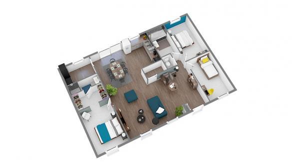 Maison+Terrain à vendre .(100 m²)(CERANS FOULLETOURTE) avec (Maisons Phénix Le Mans)