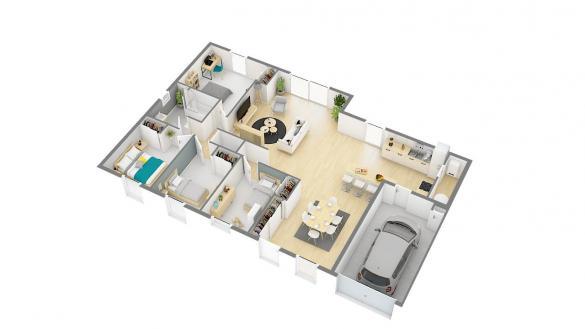 Maison+Terrain à vendre .(112 m²)(CHISSEAUX) avec (Maisons Phénix Tours)
