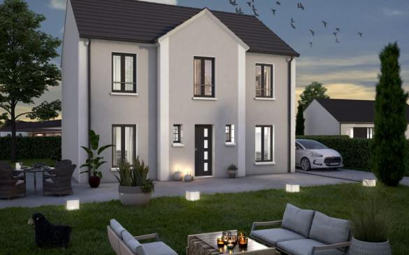 Maison+Terrain à vendre .(105 m²)(MAURECOURT) avec (COFIDIM MAISONS SESAME)