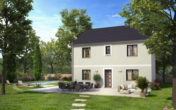 Maison+Terrain à vendre .(90 m²)(POISSY) avec (COFIDIM MAISONS SESAME)