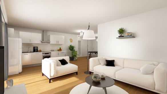 Maison+Terrain à vendre .(90 m²)(BRETEUIL) avec (RESIDENCES PICARDES)