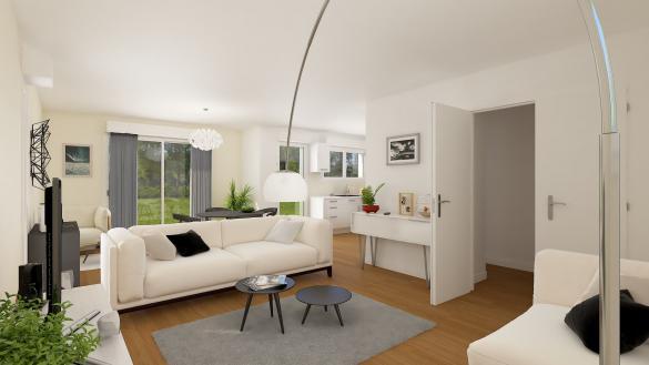 Maison+Terrain à vendre .(113 m²)(SAINT JULIEN LE FAUCON) avec (HABITAT CONCEPT LA RIVIERE ST SAUVEUR)