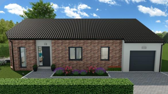 Maison+Terrain à vendre .(84 m²)(MERRIS) avec (HABITAT CONCEPT ST OMER)